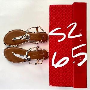 Kelly & Katie T-strap Sandals, size 6.5 - NIB